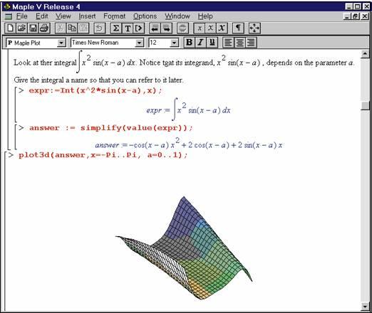 maple график: