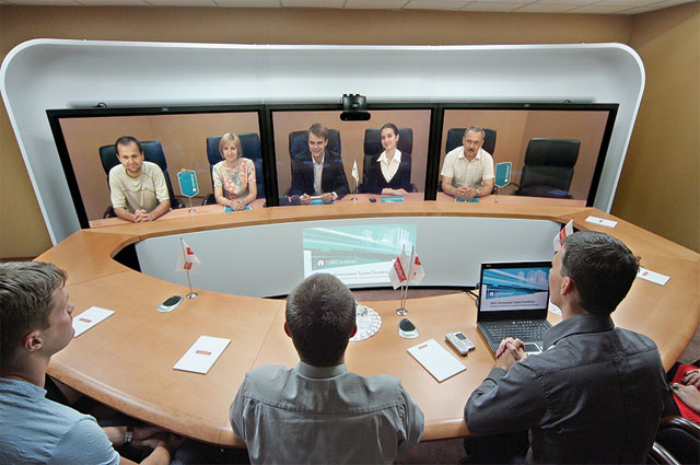 Рис. 4. Система Cisco TelePresence