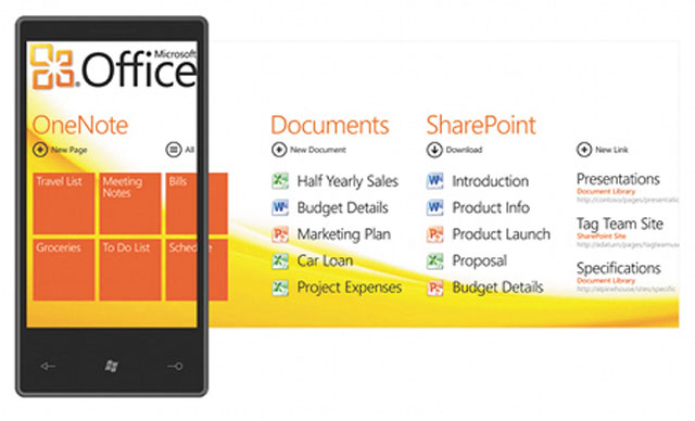 Office-хаб в Windows Phone 7